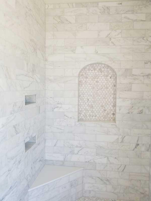 Shower Tile Installation by Art Z