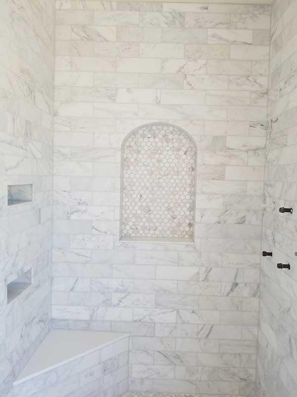 Subway Marble Tile Installation