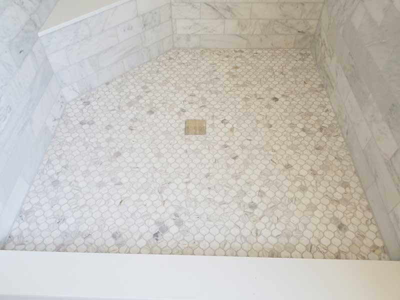 Bathroom Tile Installation - Shower Floor