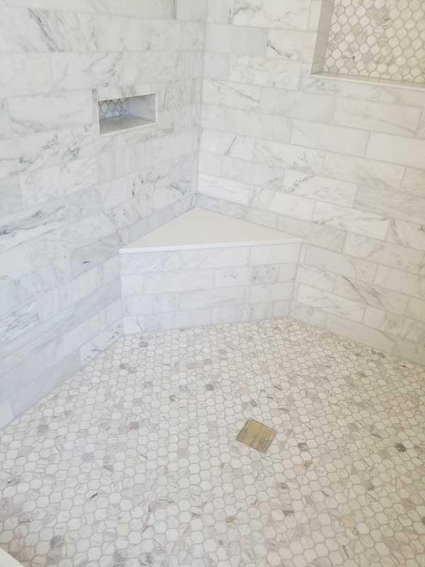 Shower bathroom tile installation Geneva