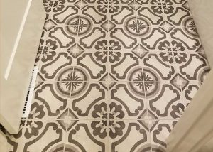 Printed Tile Floor Installation