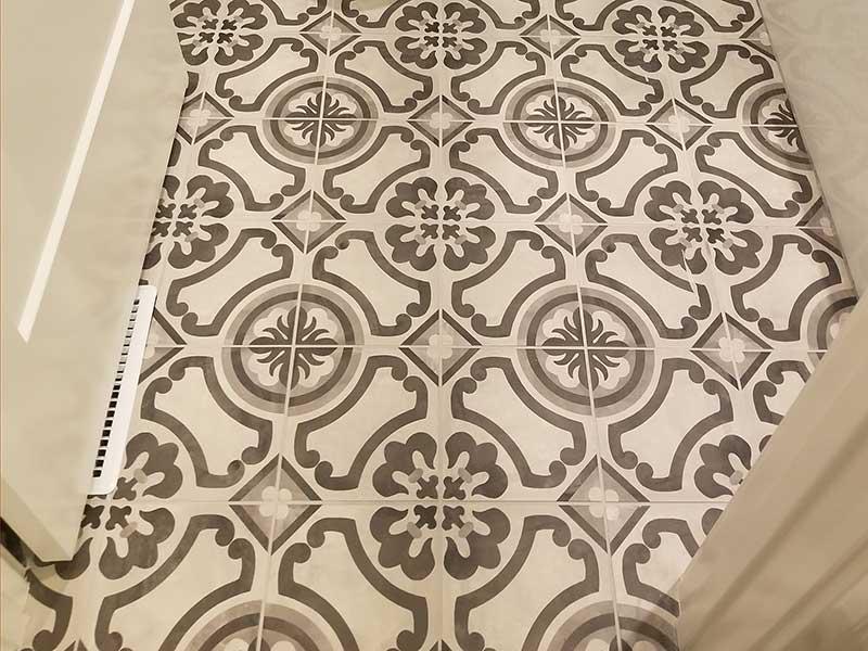 Printed Tile Floor Installation