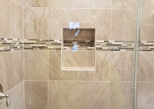 Mixed Glass Tile Installation