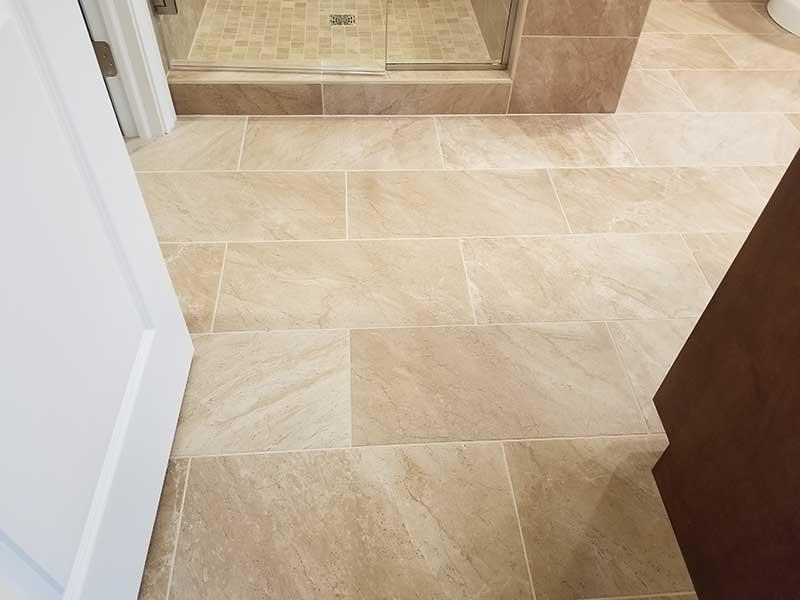 Porcelain Tile Master Bathroom