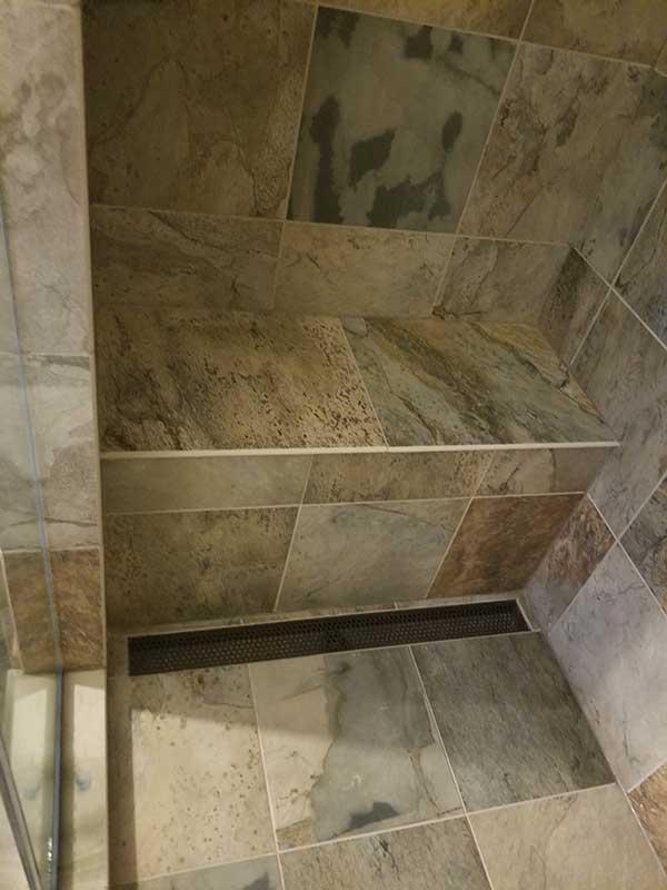 Porcelain Tile Powder Room Shower