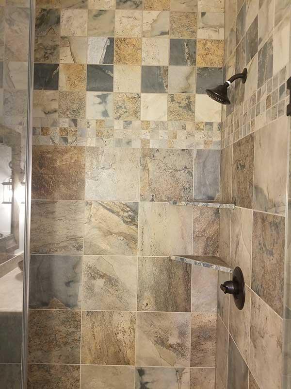 Porcelain Tile Bathroom Art Z Flooring Geneva Il
