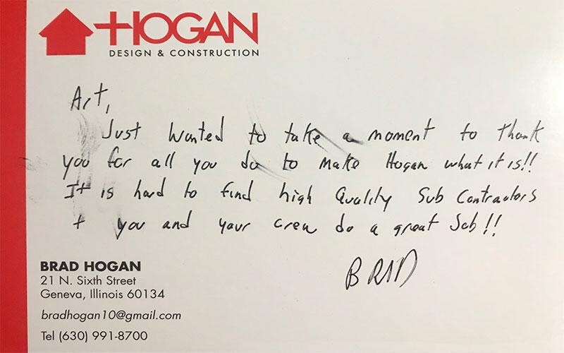 Brad Hogan Testimonial