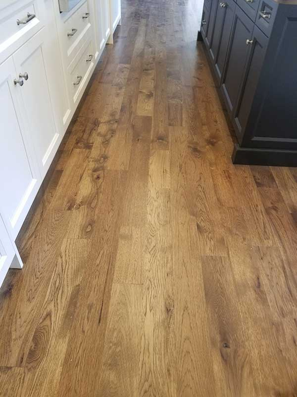 Rustic Hickory Flooring by Tile Installers