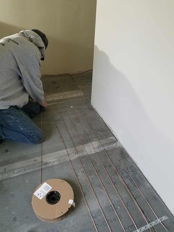 Radiant Heated Flooring Installation