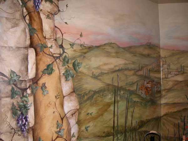 Naperville Wine Cellar Mural