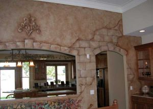 Detailed Faux Finish Wall Mural