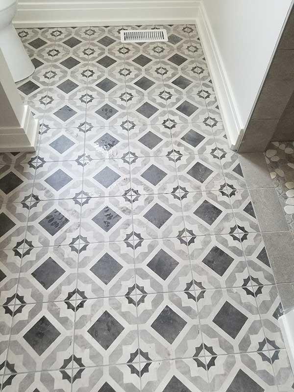 Porcelain & Mosaic Bathroom Tile Installation