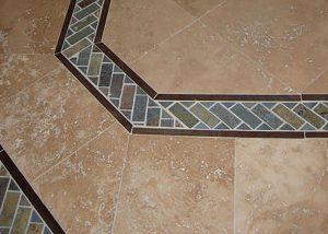 Slate Mosaic Tile Installation