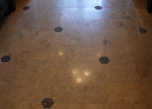 Marble Tile Master Bathroom Floor
