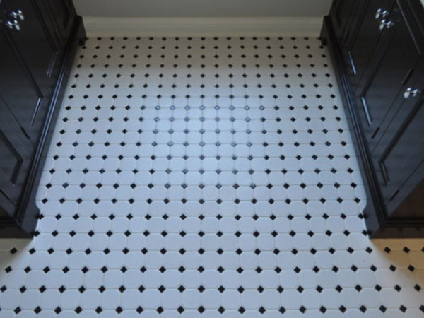Ceramic Mosaic Bathroom Floor