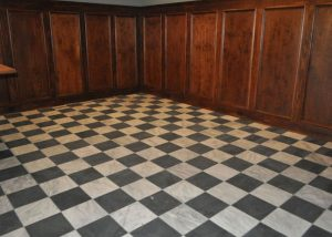 Marble Tile Basement Floor
