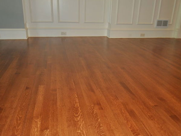 Oak Tile Floor Installation
