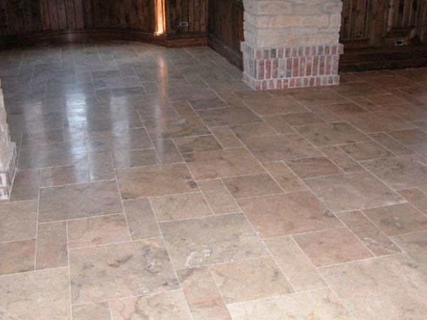 Marble Tiled Basement Tile Floor Installation