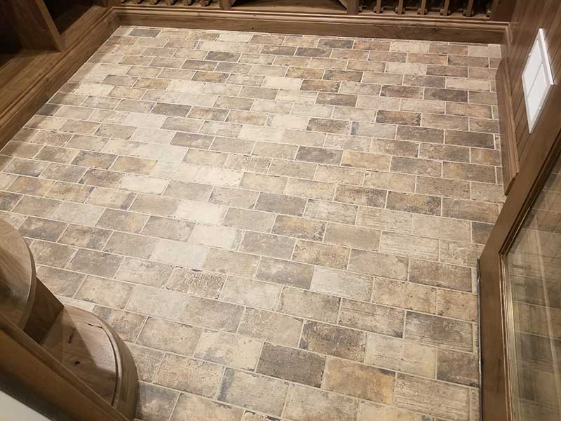 Art Z Tile Installation Wine Cellar