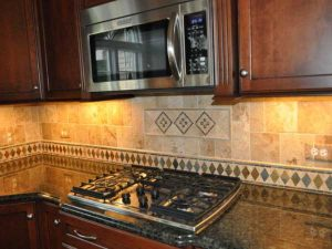 marble tile with mosaic